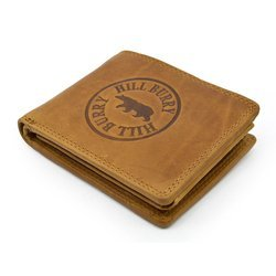 Hill Burry hb113 camel Ekskluzywny portfel