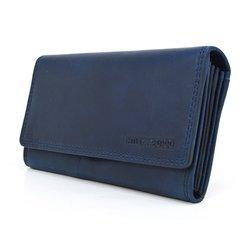 Klasyczny, podłużny portfel Hill Burry V-102 skóra