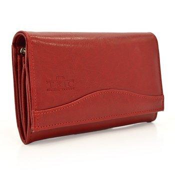 Klasyczny skórzany damski portfel Elkor e124
