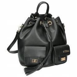 Zgrabny plecak damski w formie worka, skóra ekologiczna — Nobo