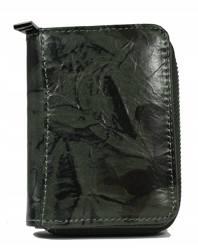 Zgrabny portfel damski ze skóry naturalnej, na zatrzask i suwak — Forever Young