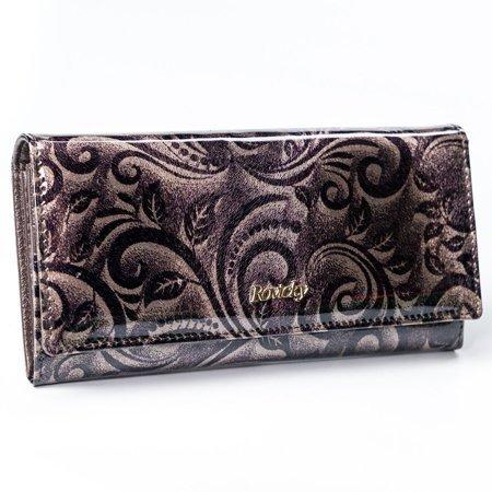 Duży, składany portfel podłużny, ochrona RFID Stop, skóra naturalna Rovicky