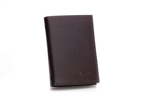 Elegancki brązowy skórzany męski portfel SOLIER SW08