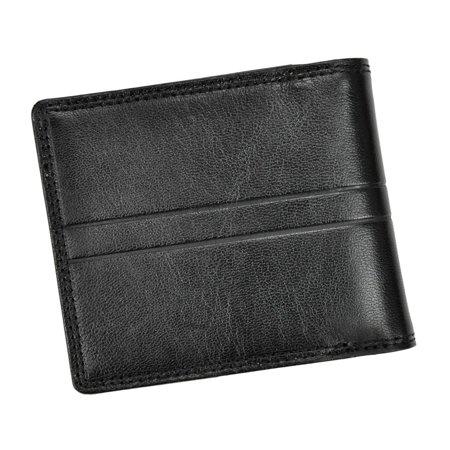 Gustowny klasyczny prosty męski portfel skórzany