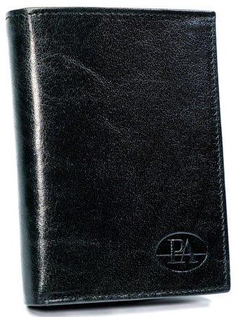 Miejski portfel męski bez zapięcia, skóra naturalna licowa, RFID Stop — Pierre Andreus