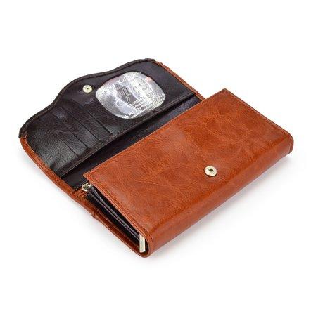 Piękny skórzany portfel damski Elkor e001zamek
