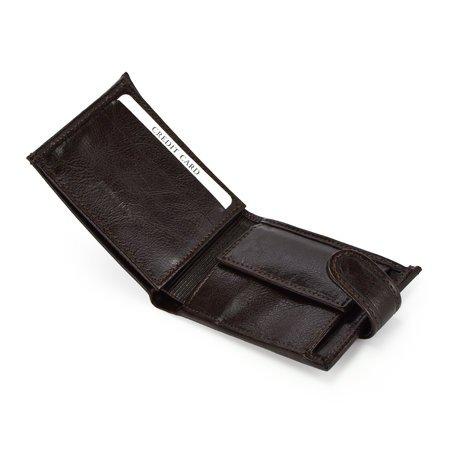 Podręczny pojemny męski portfel skórzany Andrus