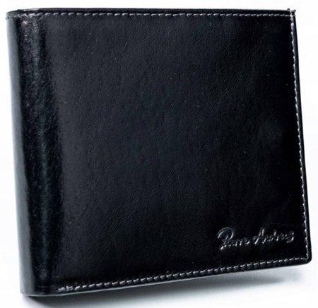 Skórzany portfel męski, składany bez zapięcia, Pierre Andreus